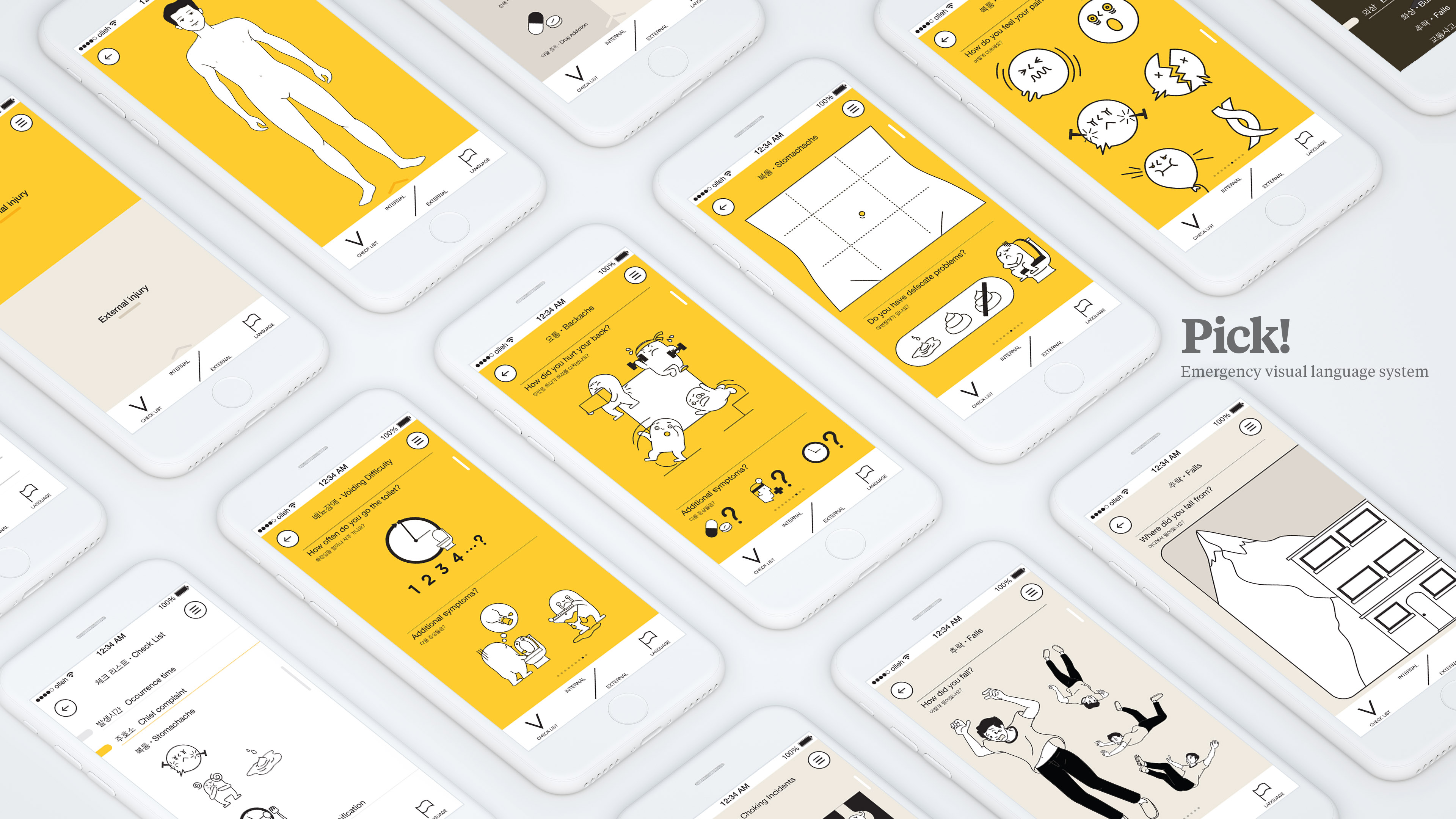 Pick! — Emergency visual language system