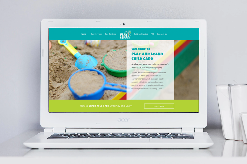 Play and Learn Website Design