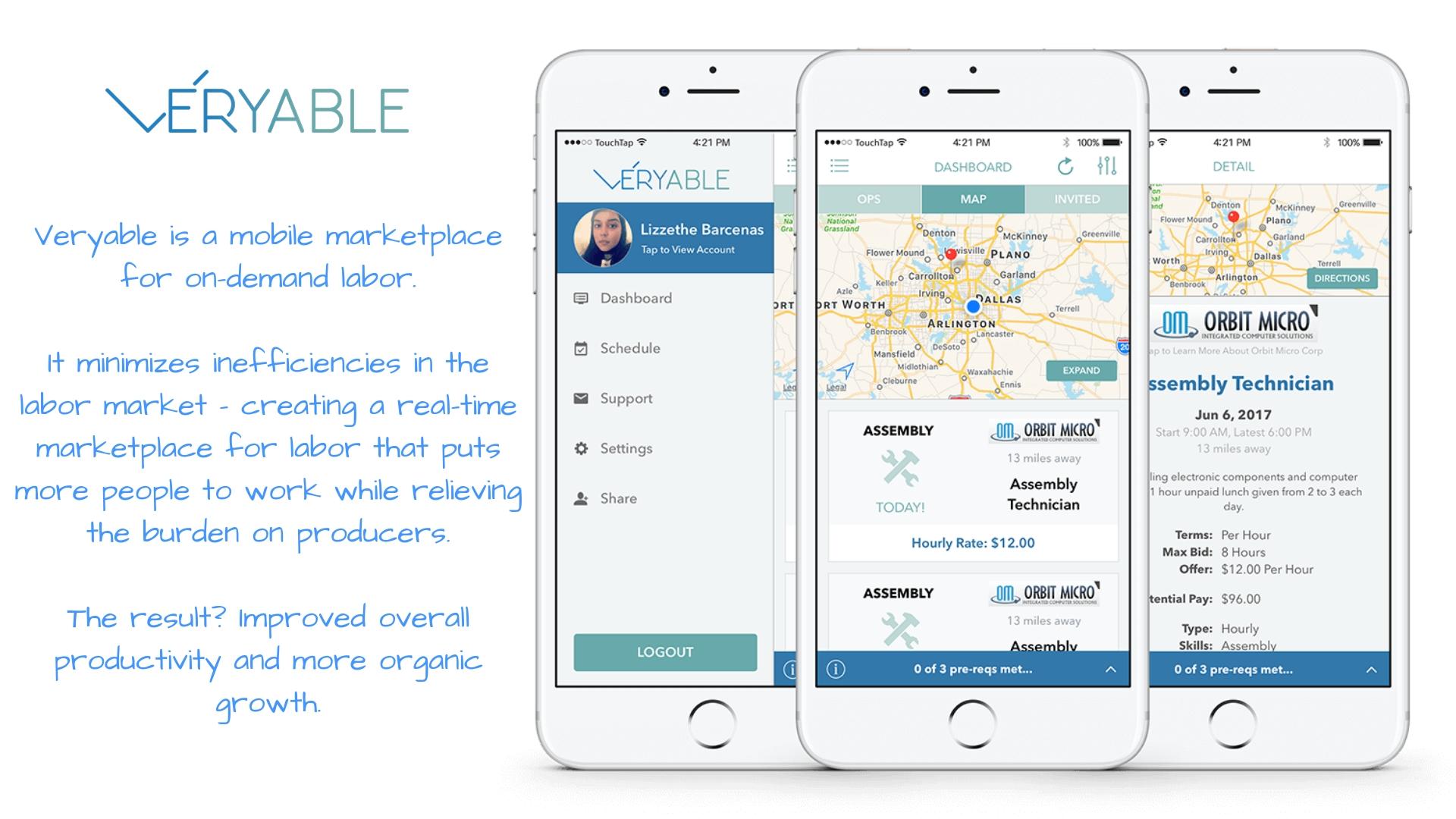 Veryable Mobile App