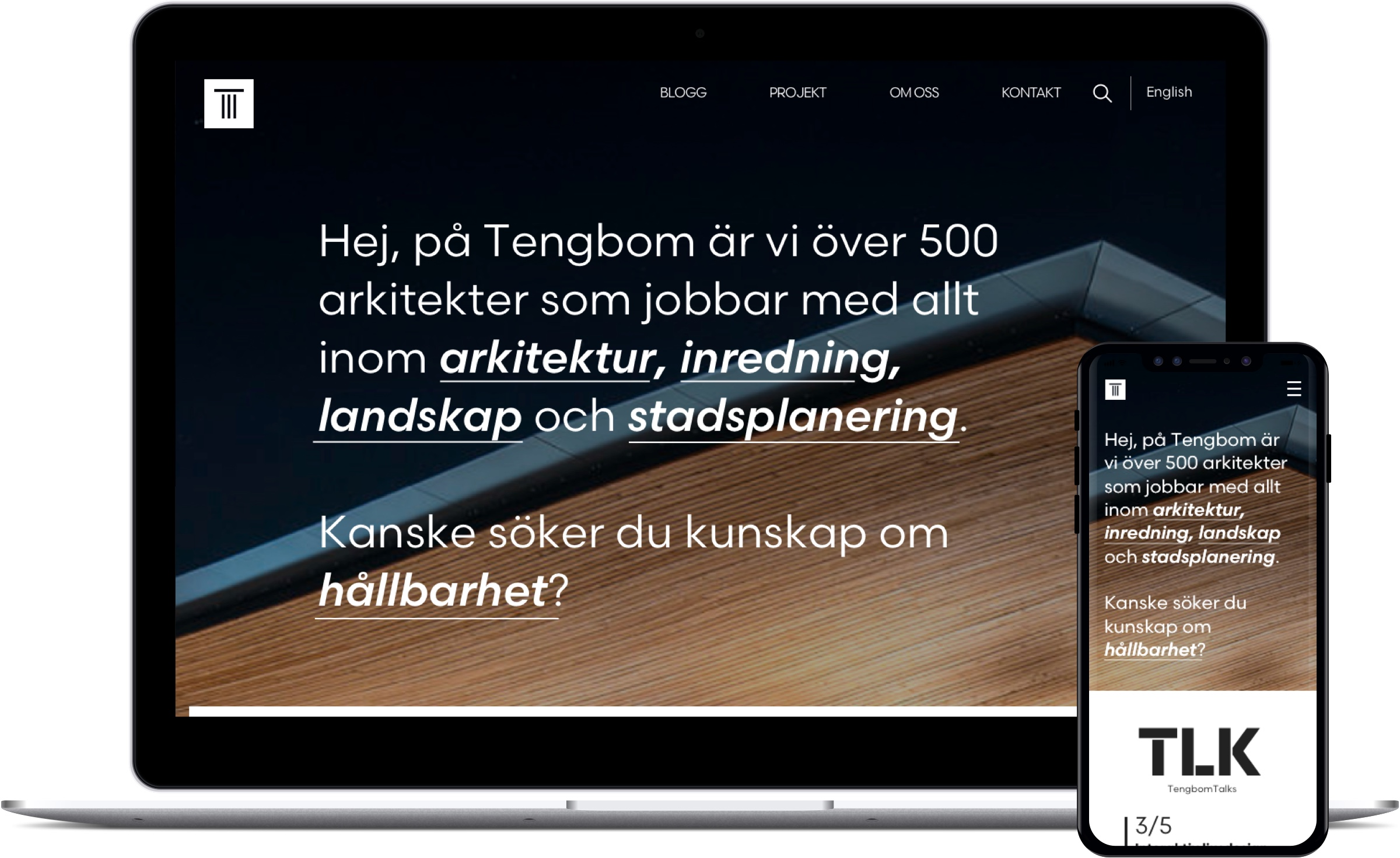A lightweight and extensive website for the users of Sweden's most innovative architect