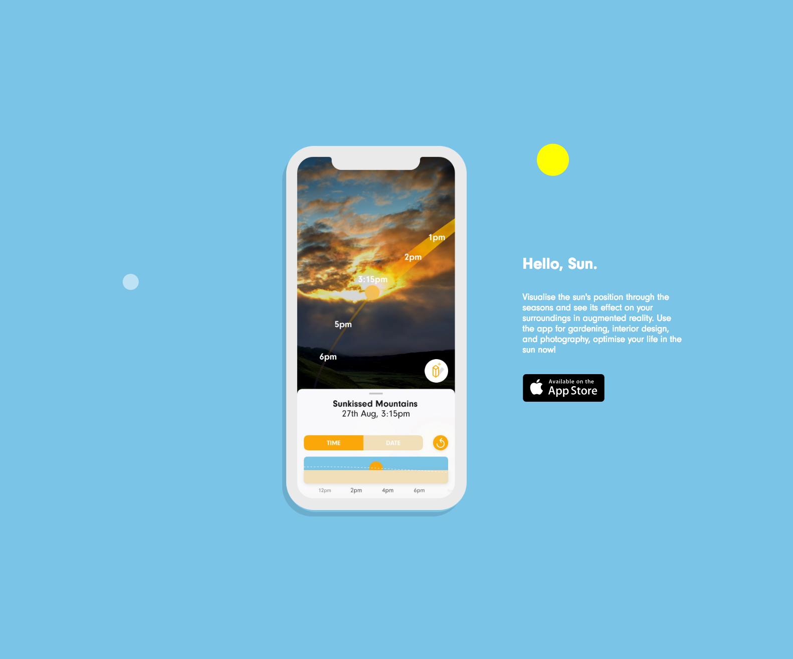 Hello, Sun. - Sun Tracking and Shadow Simulation AR app