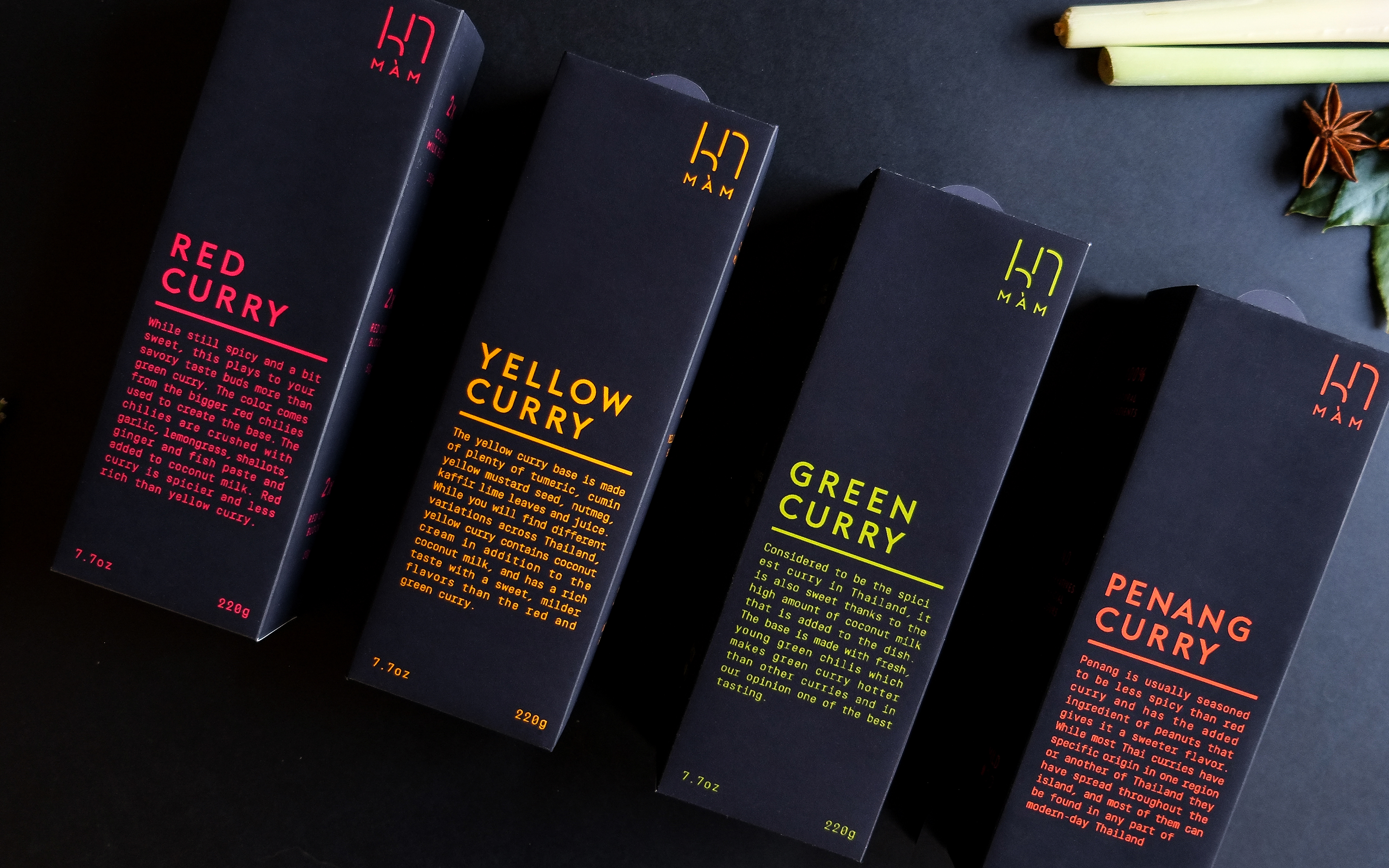 MÀM - Thai Curry Packaging