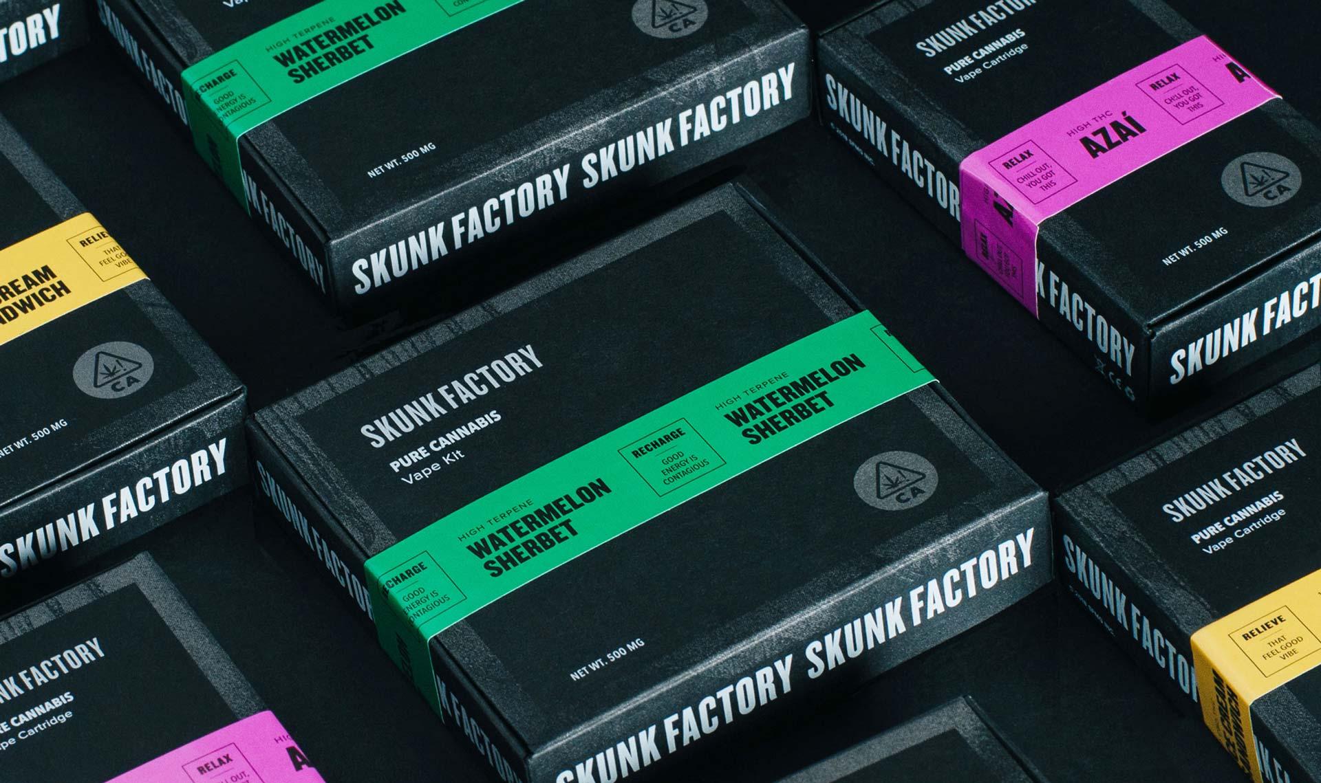 Skunk Factory Packaging