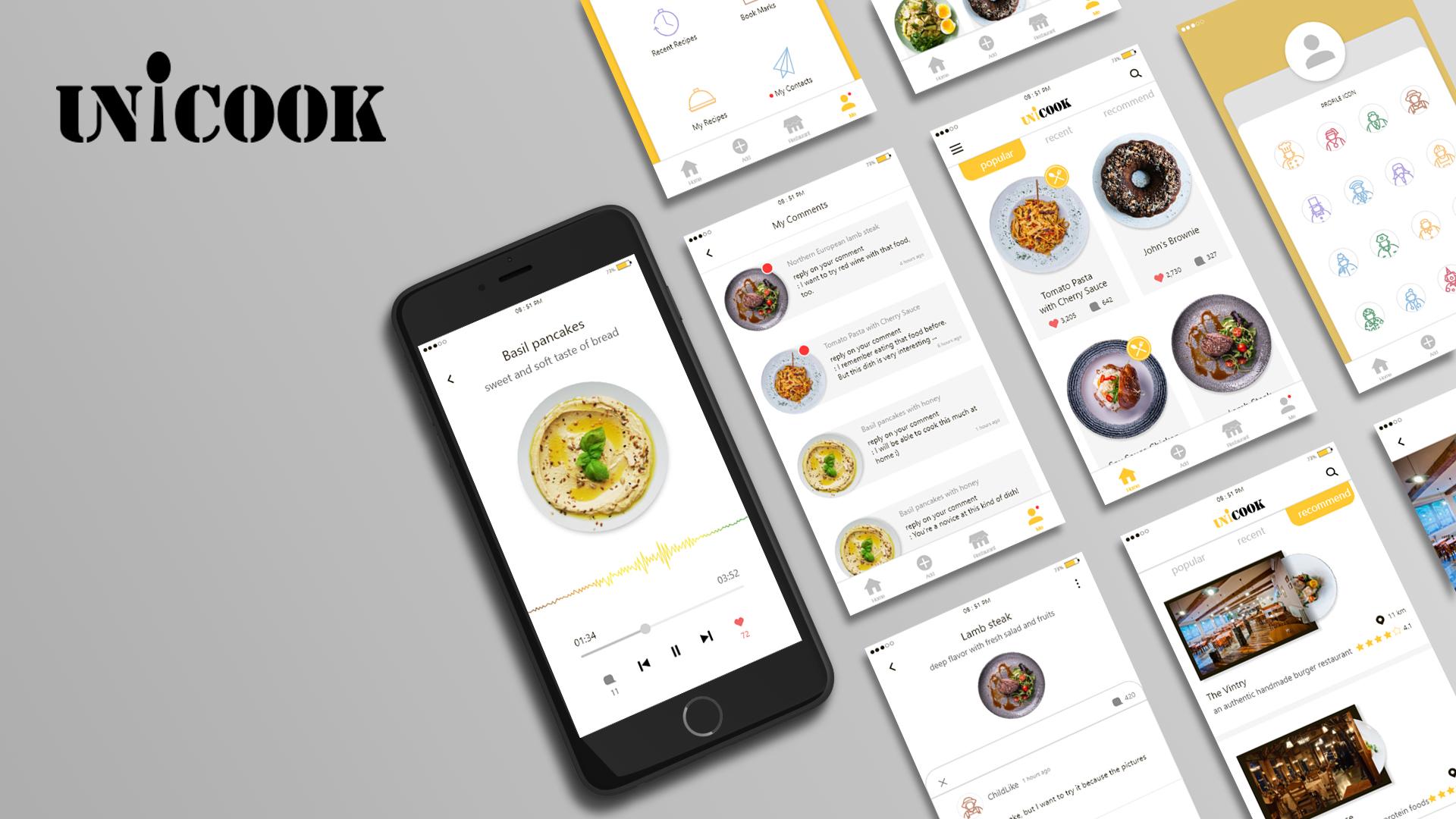 Unicook-Recipe Platform for Chef Wannabes