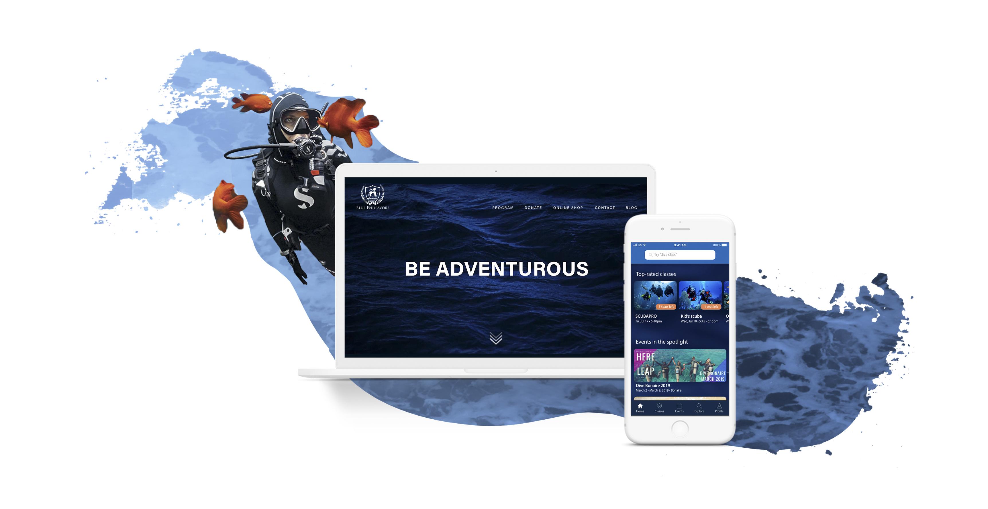Be Blue - App and Website Design