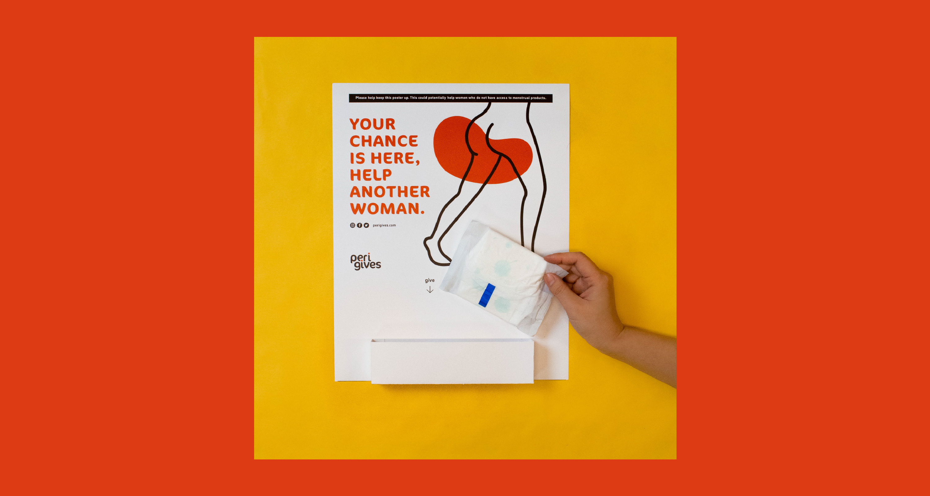 Solving the lack of menstrual products for homeless with a poster