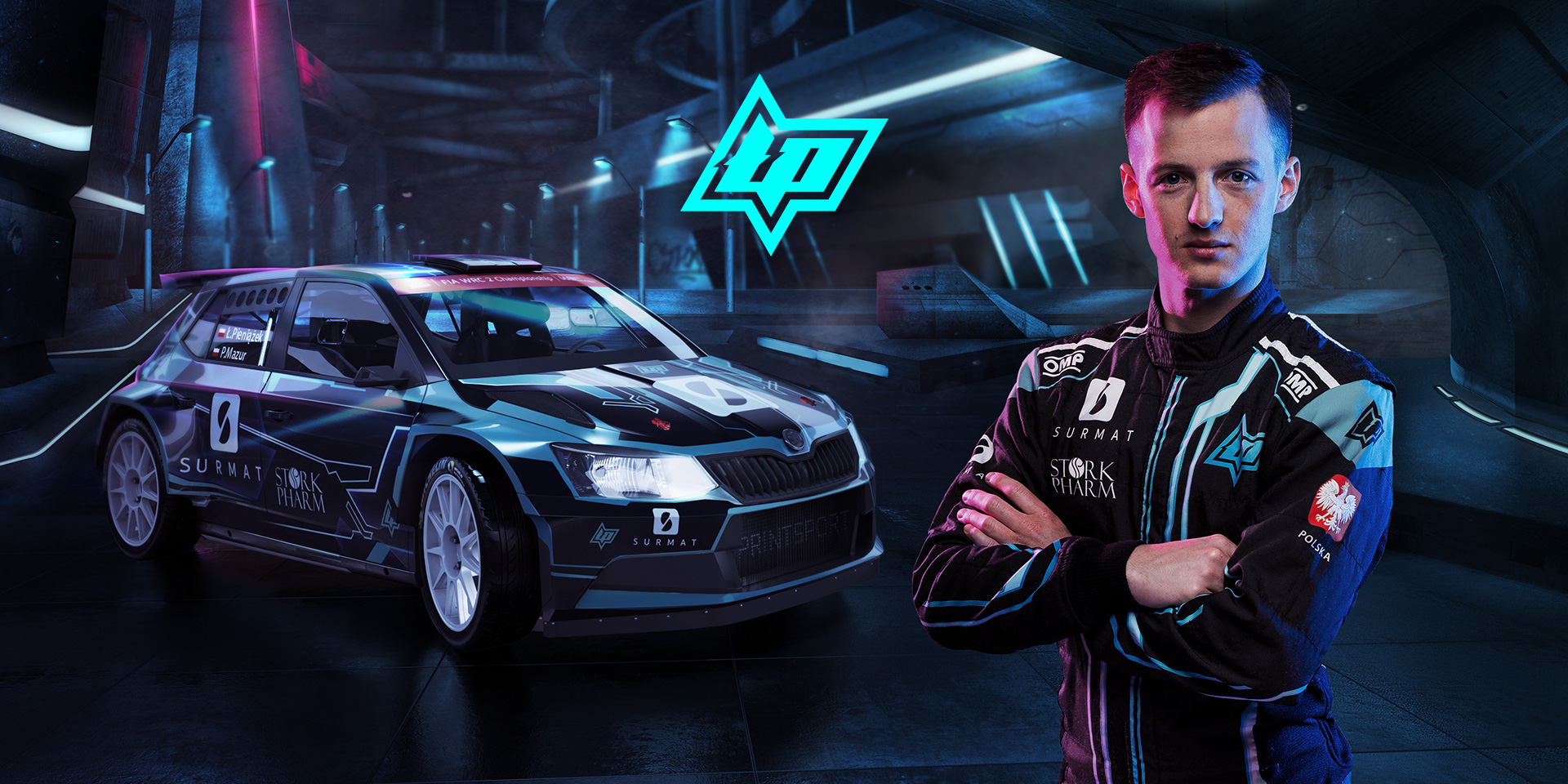 Branding for WRC2 rally driver