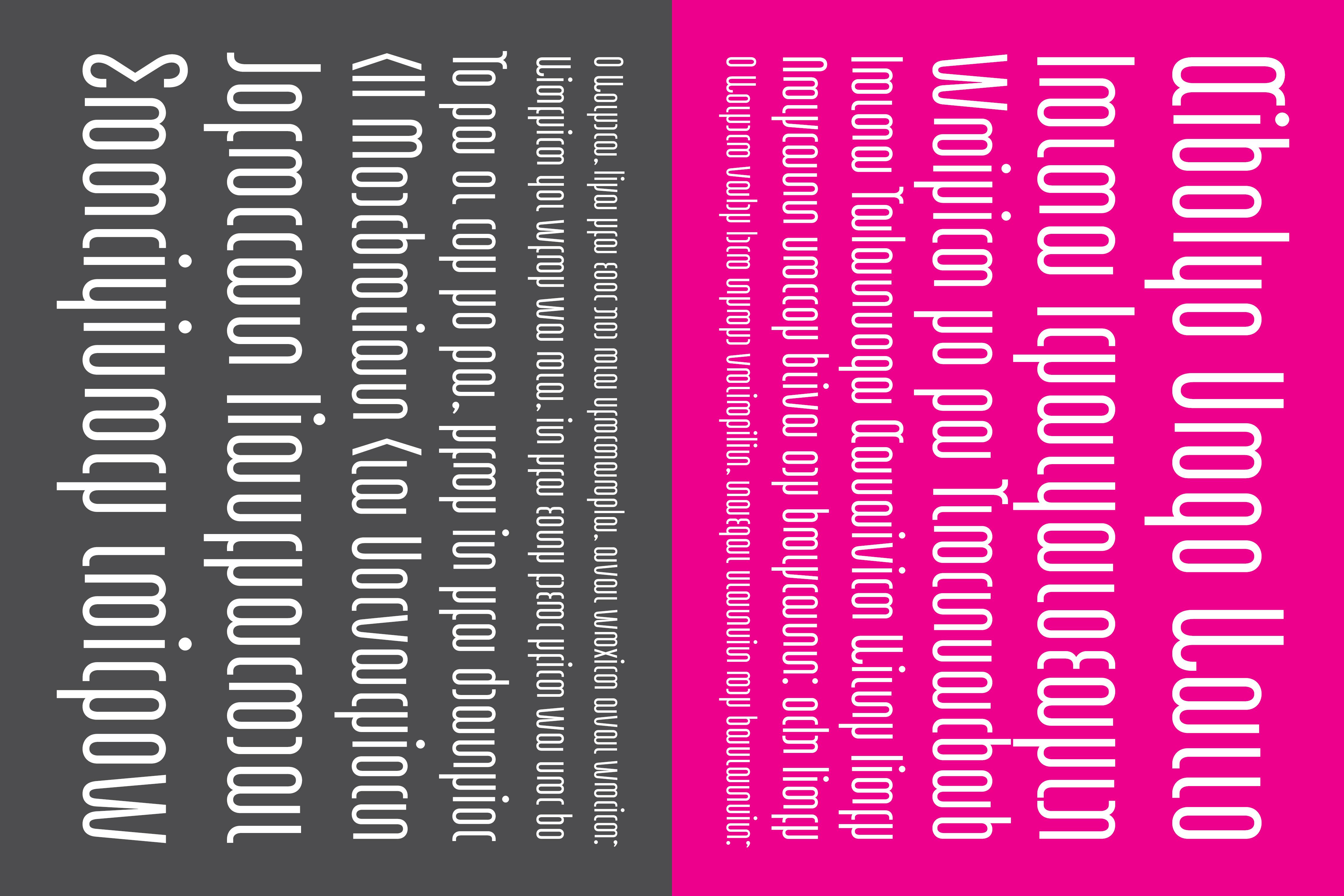 Neon Experimental Typeface