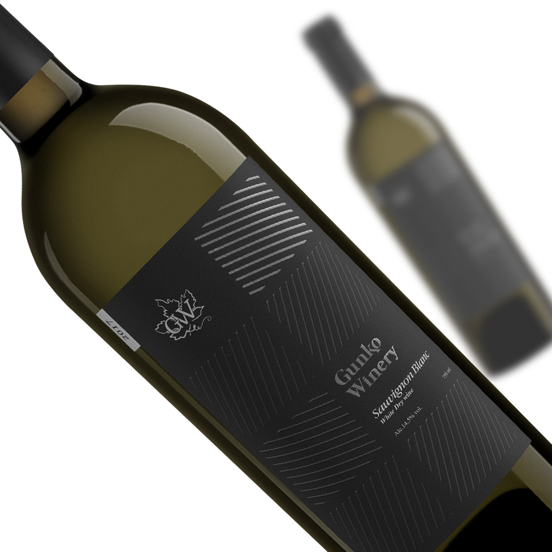 Label for line of wine Gunko Winery