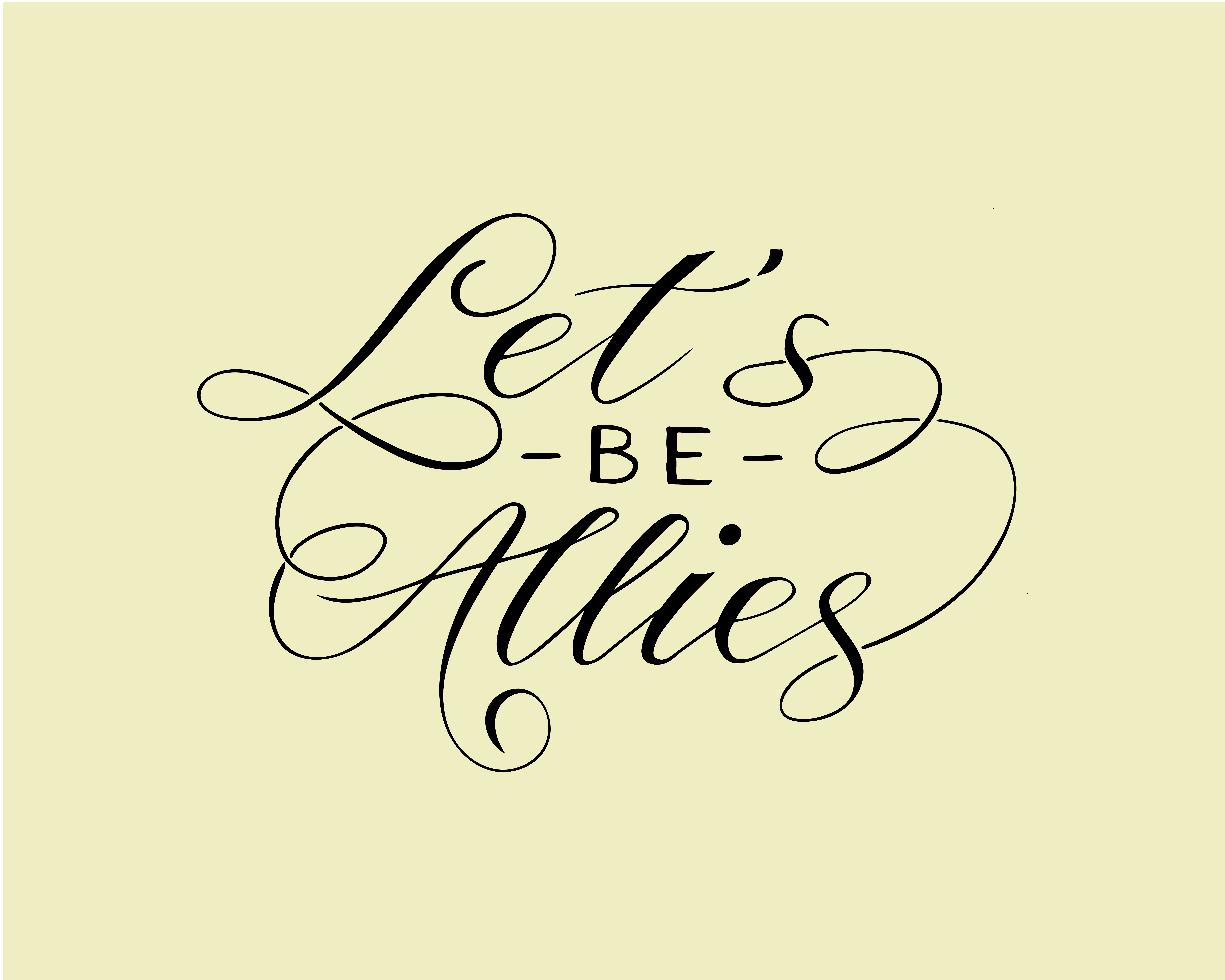Let's Be Allies