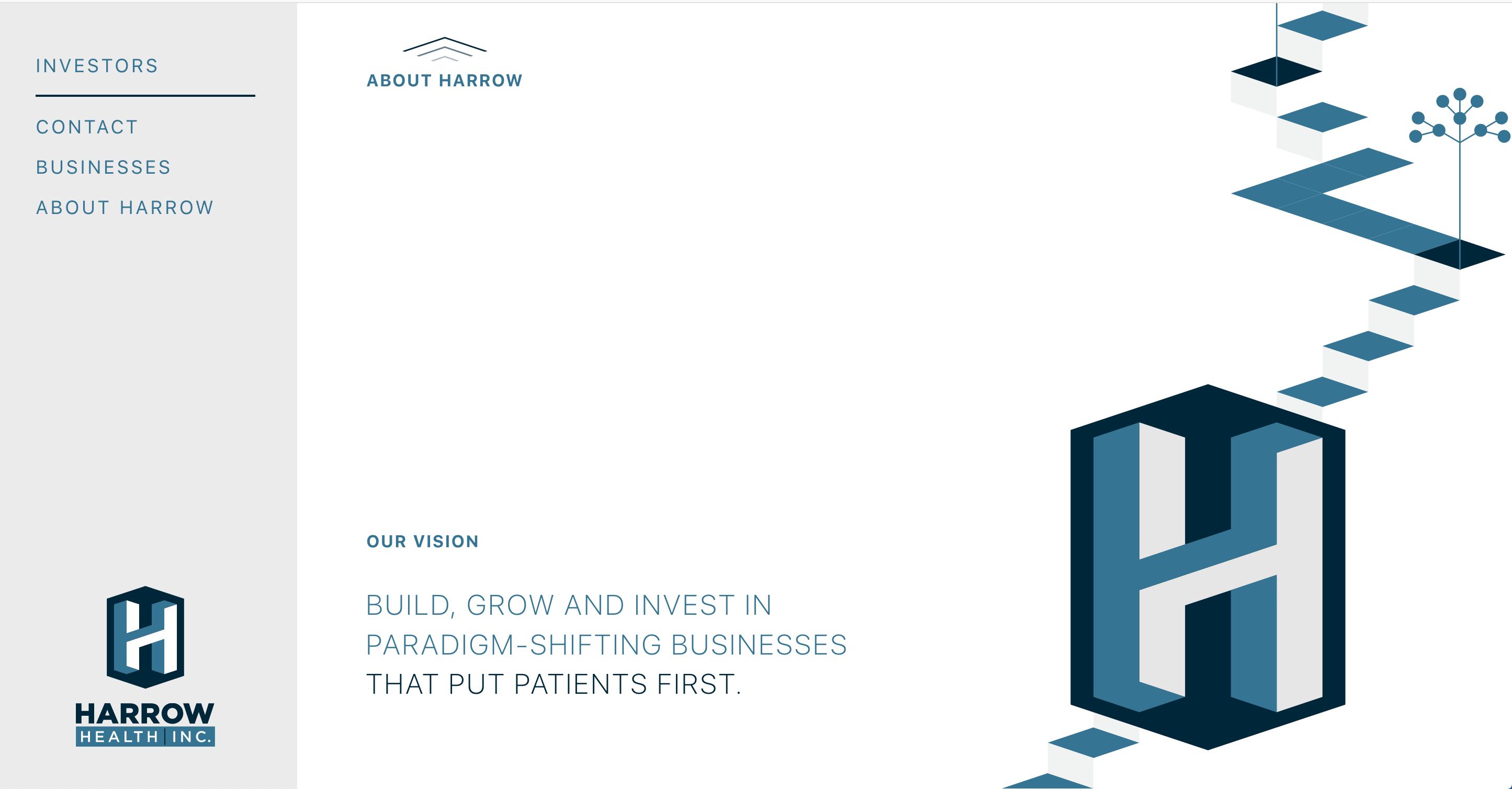 Harrow Health Website