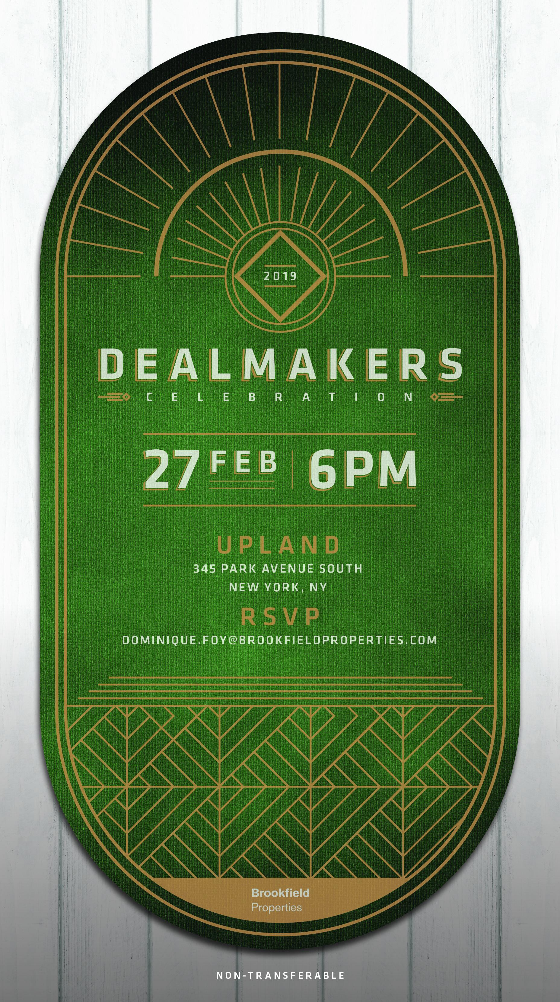 New York Dealmakers Invitation