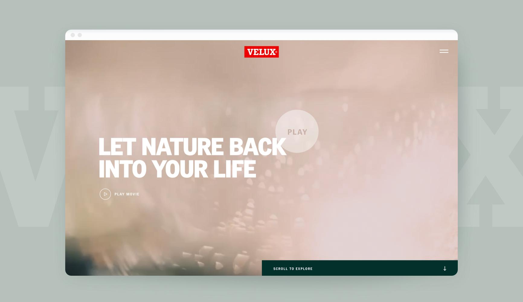 Velux Outside-In Website