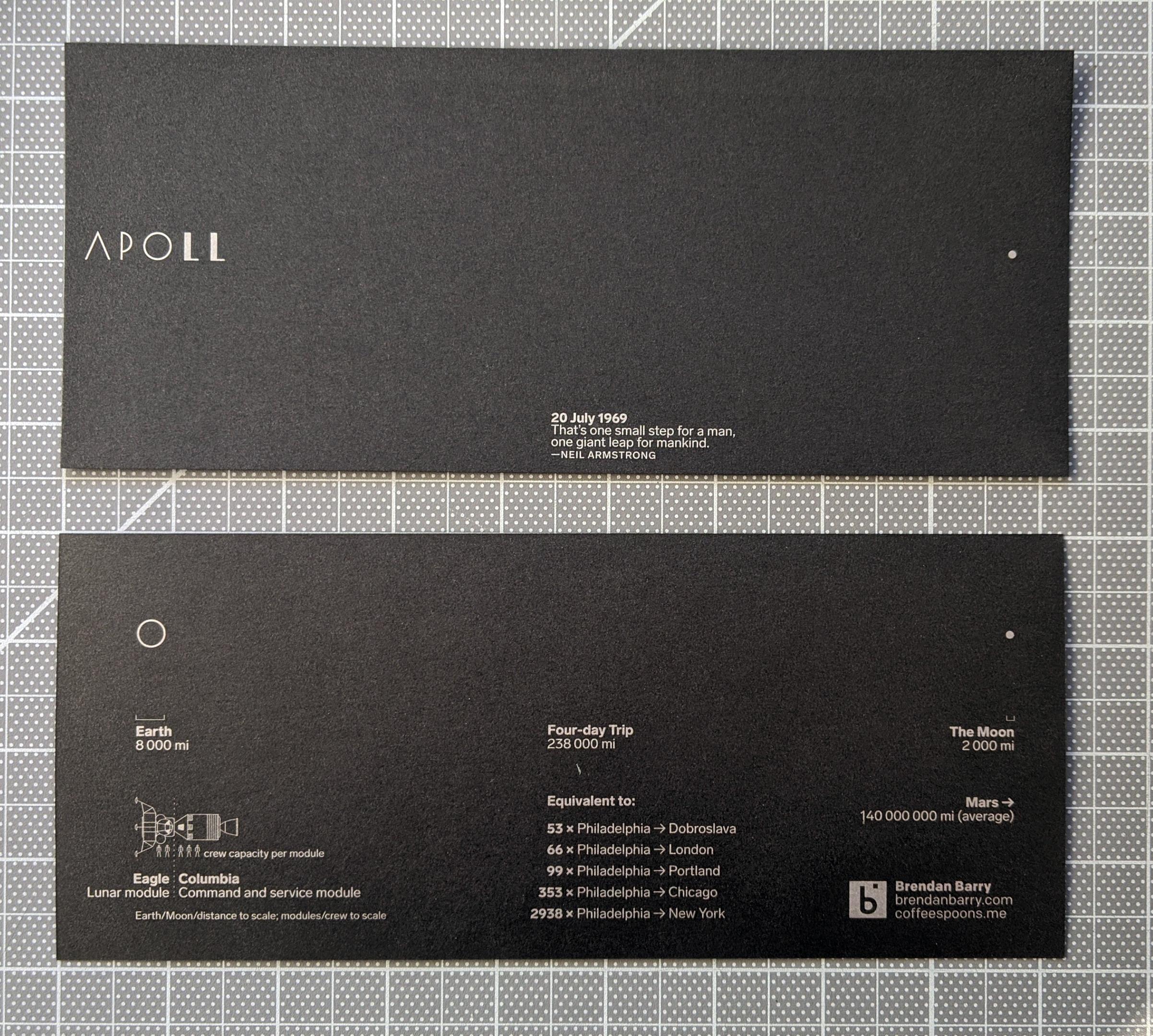 Apollo 11 Anniversary Card
