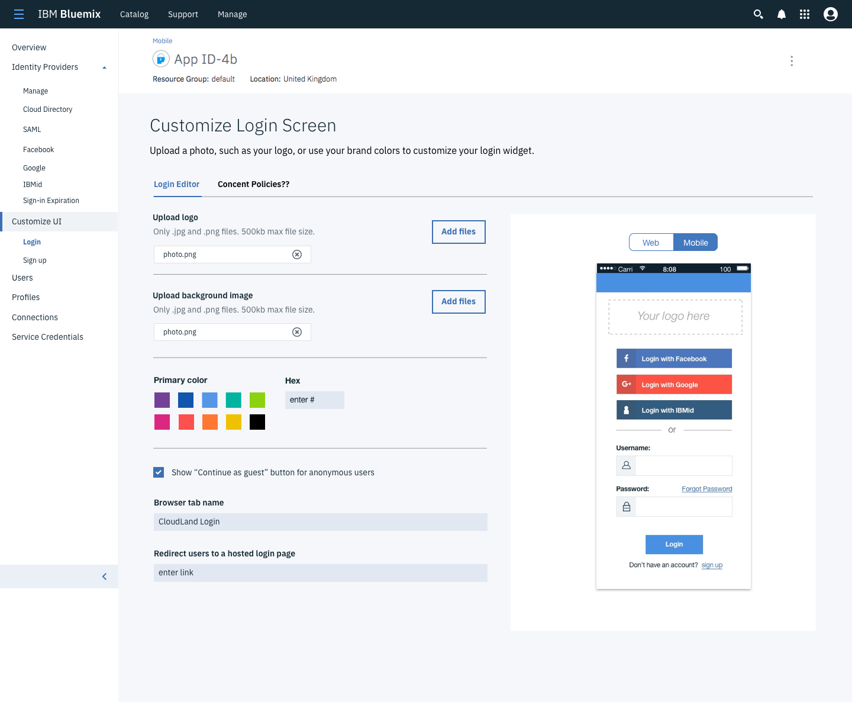 IBM Cloud App ID