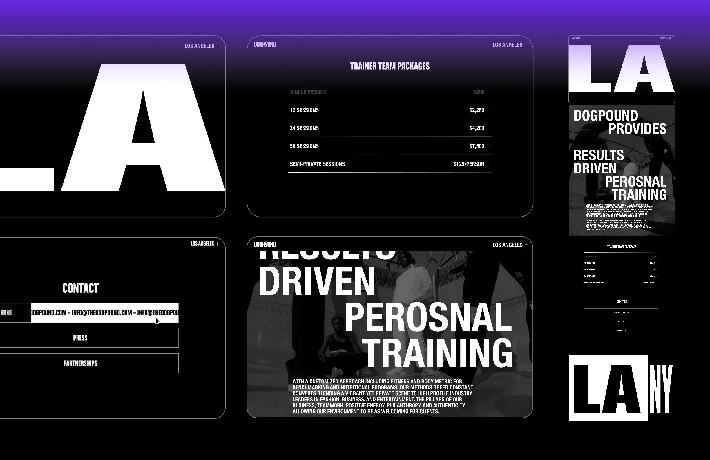DOGPOUND Website Design