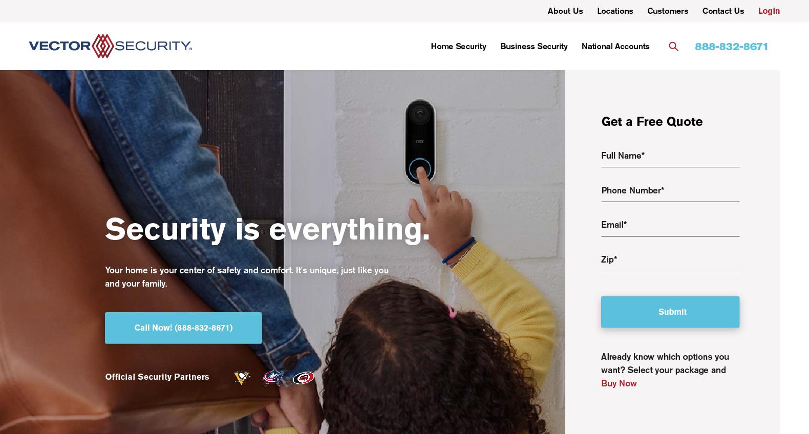 Vector Security Website