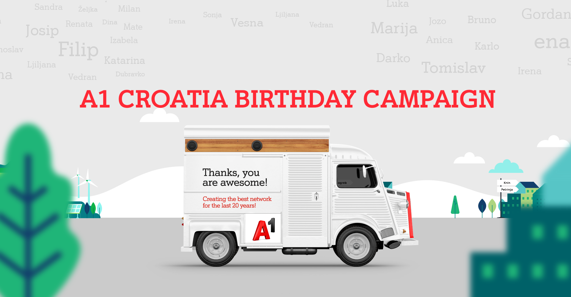 A1 Croatia - Birthday campaign