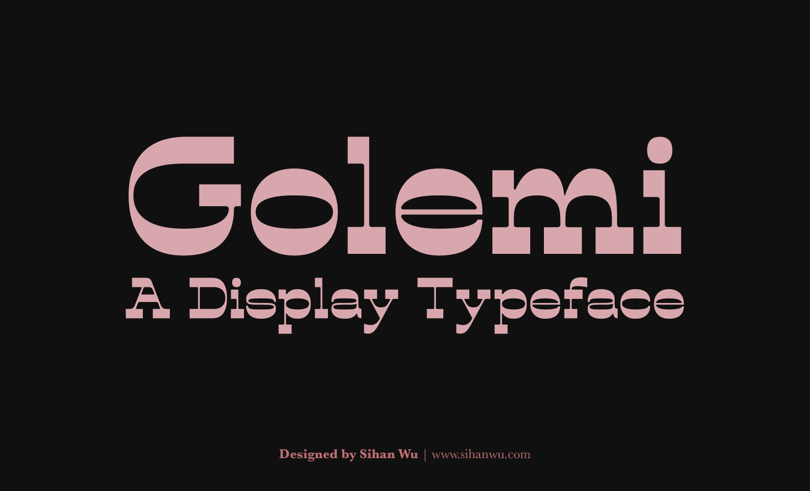 Golemi Typeface—A Display Font