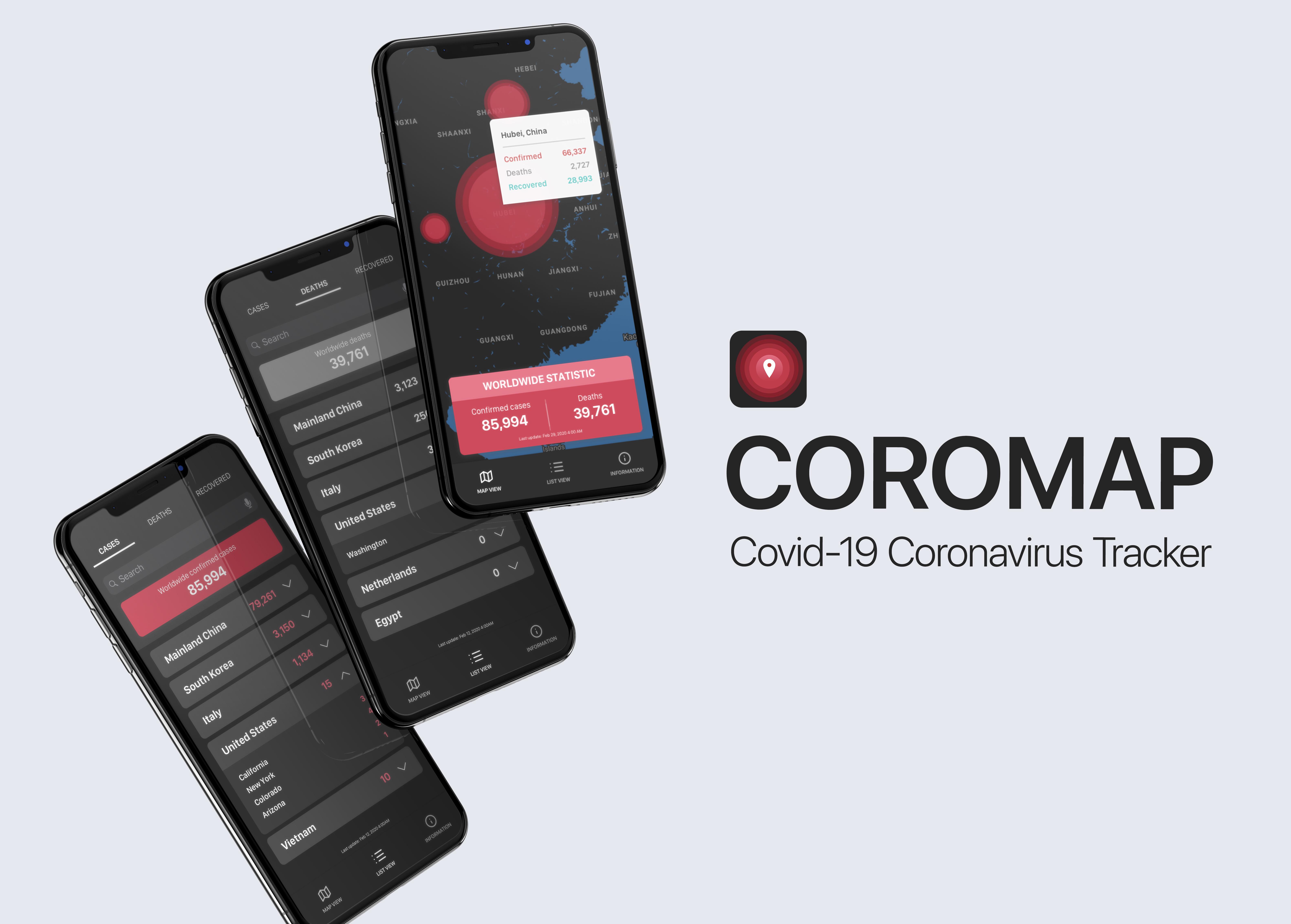 Coromap: COVID19 Tracker