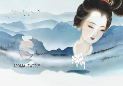 Shan Shui the faces of Chinese ink painting Aroma 3D light luxury jewelry