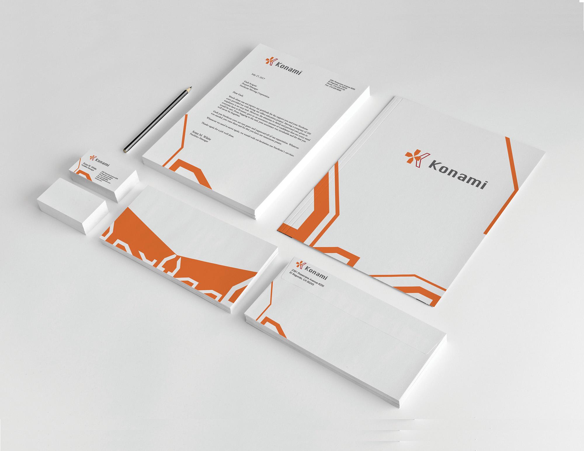Konami's Brand Identity Guideline Book