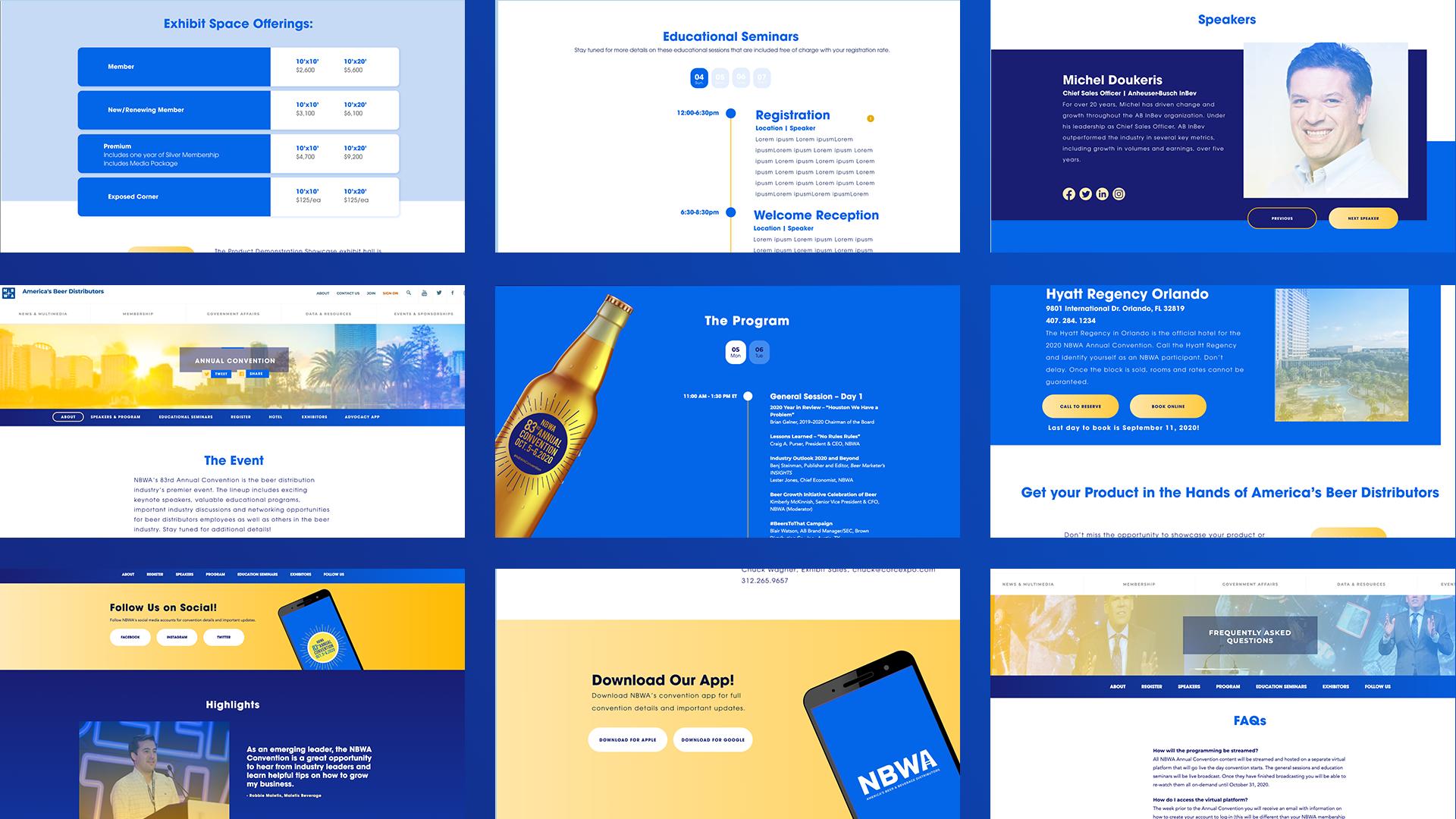 Virtual Annual Convention Webpage Design
