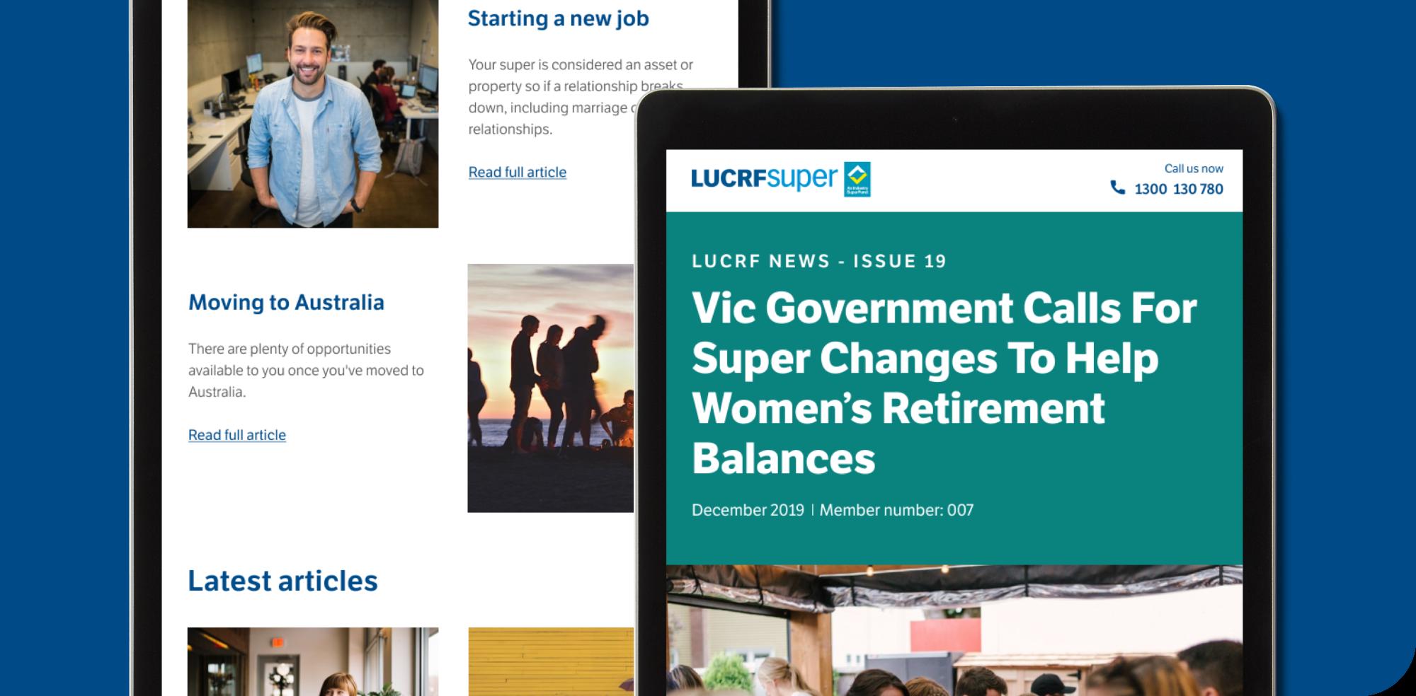 LUCRF Super Website Redesign