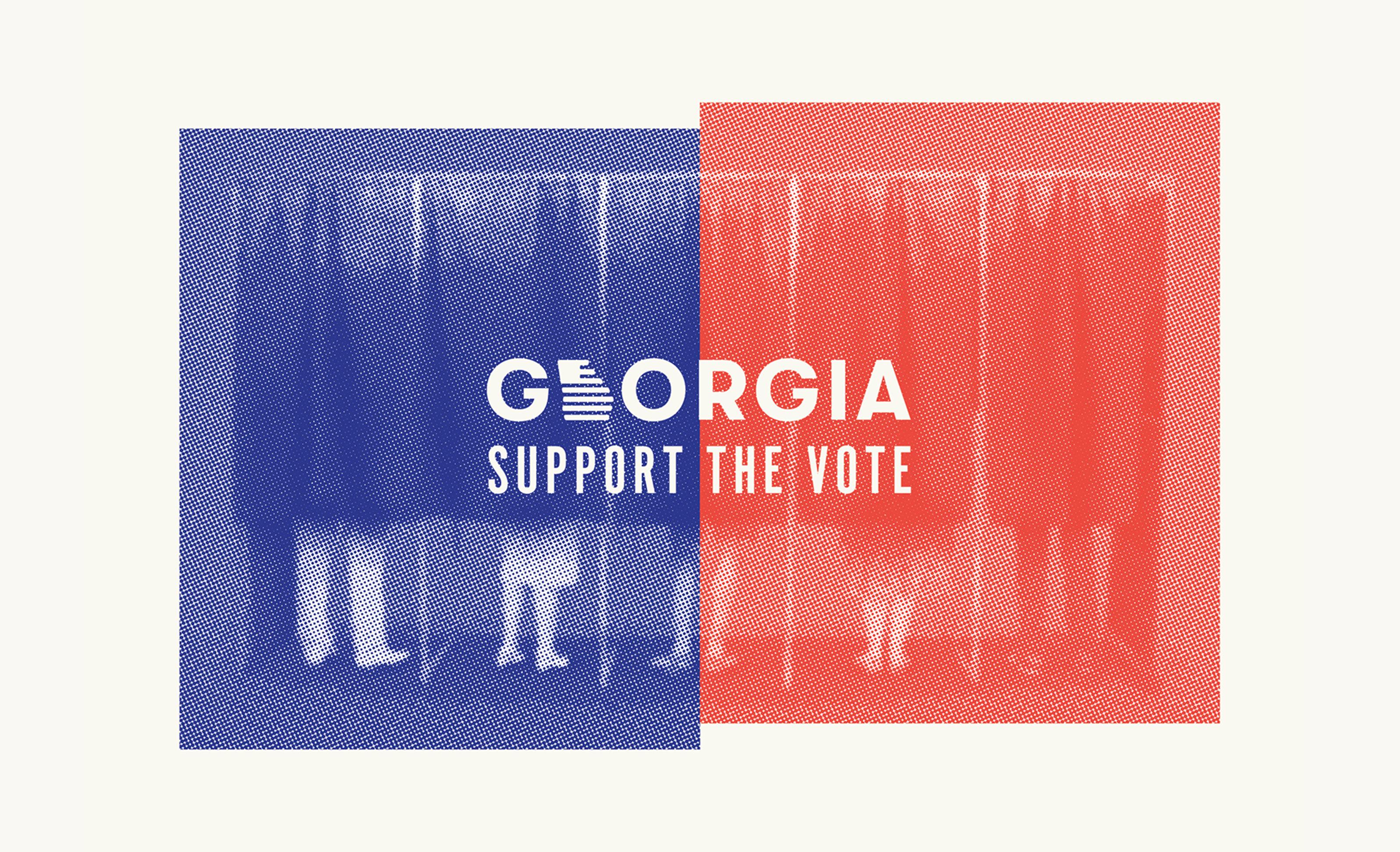 Georgia Support the Vote Branding