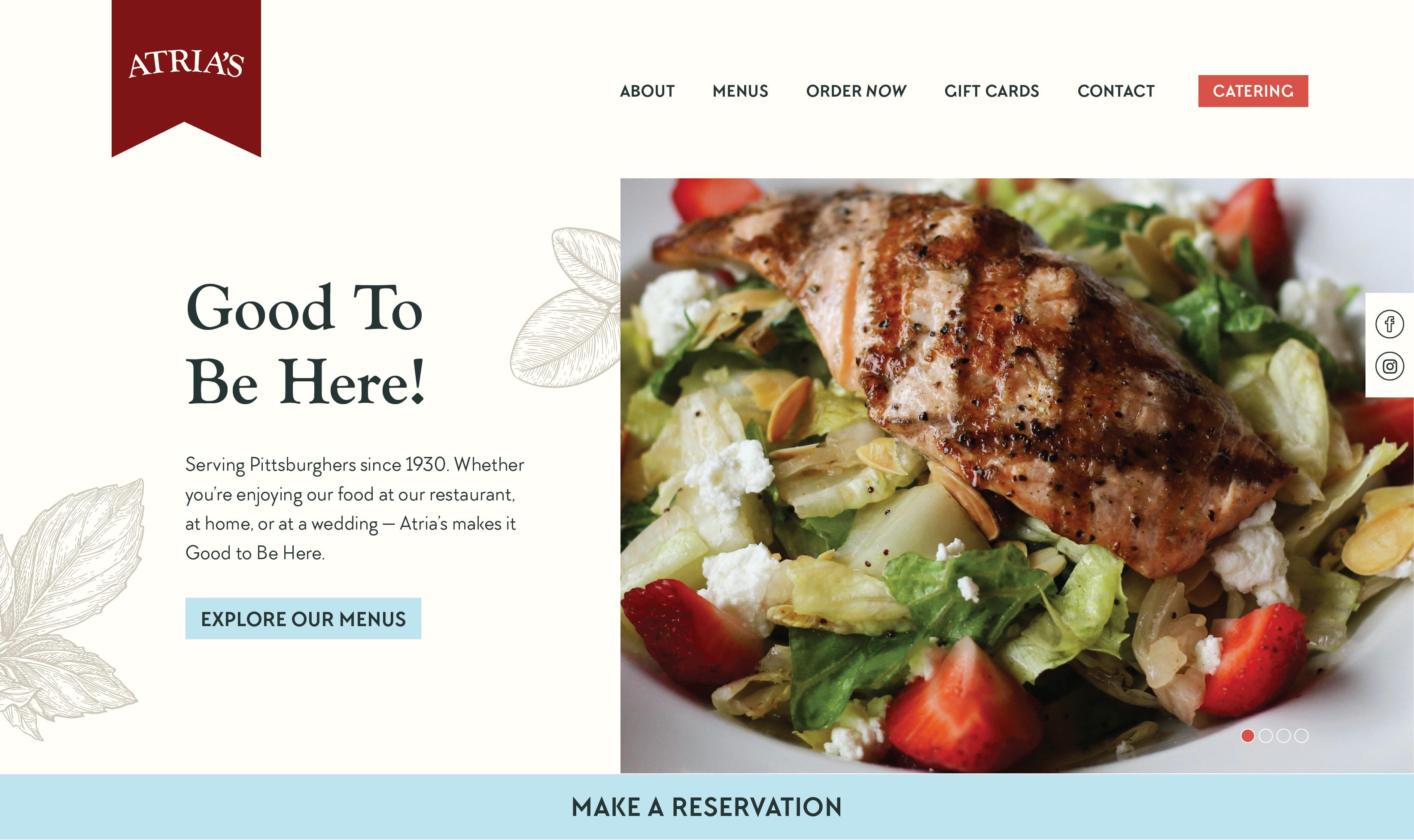 Atria's Website Design