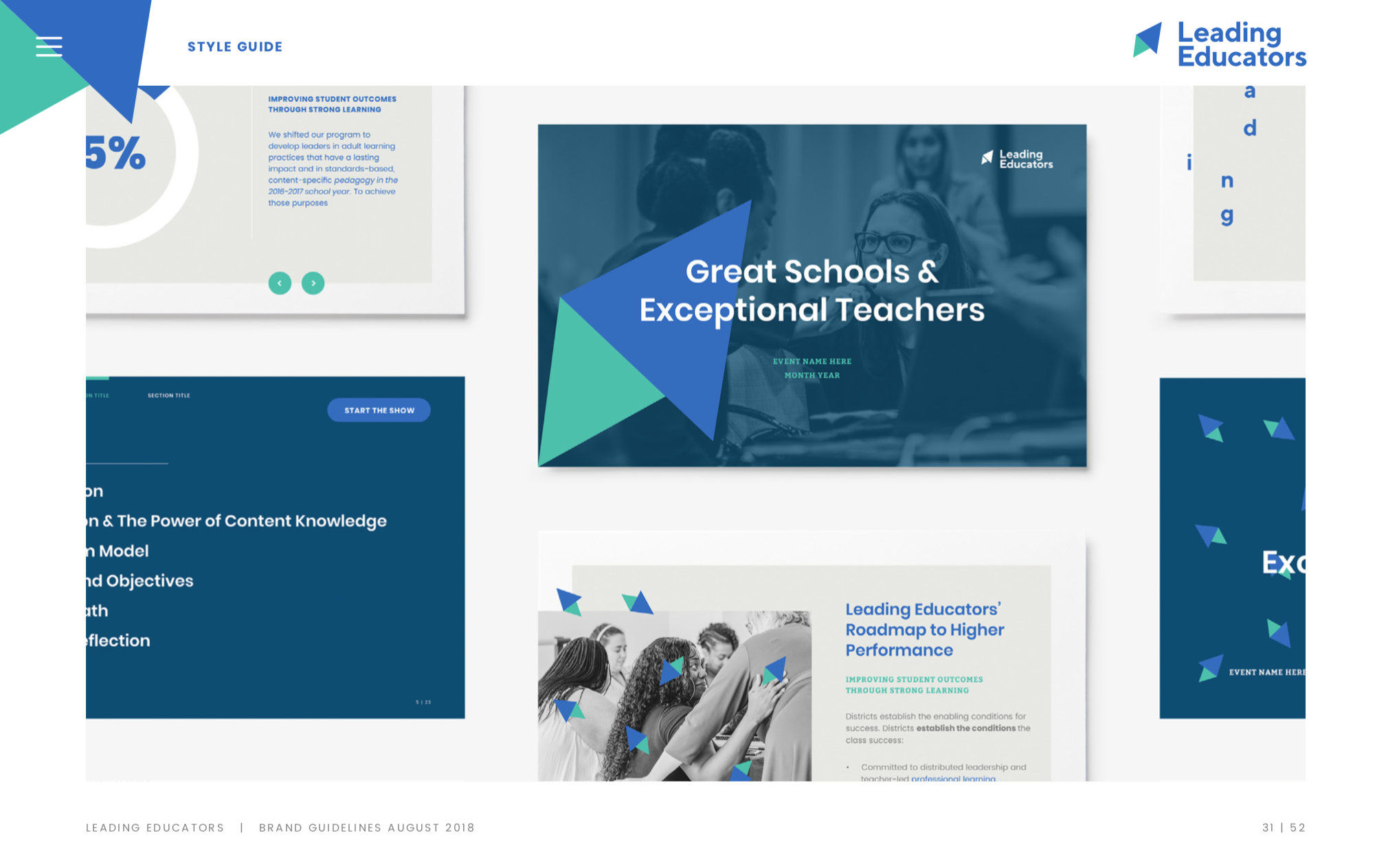 Website and Visual Identity for Leading Educators