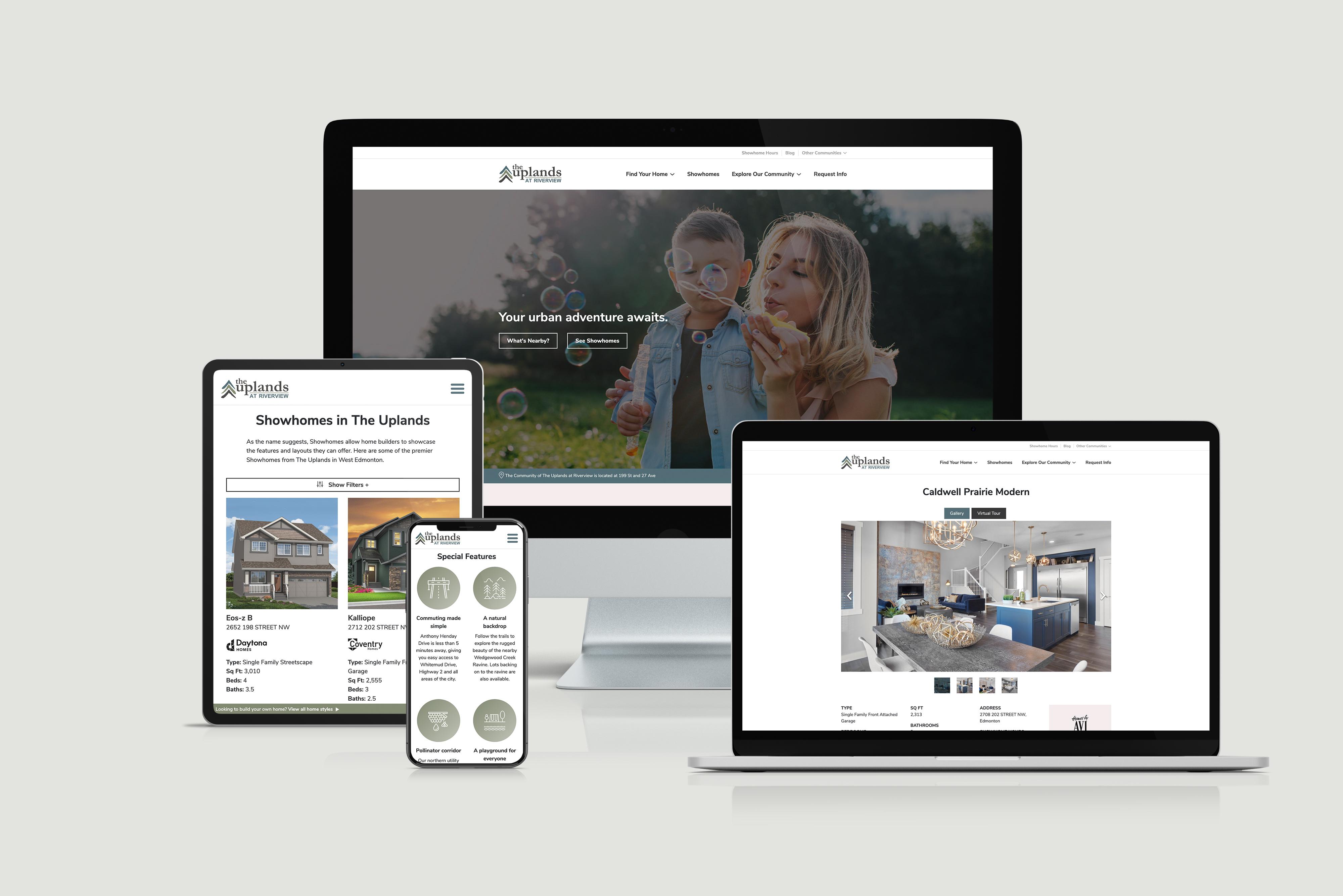 Qualico Communities Website Redesign