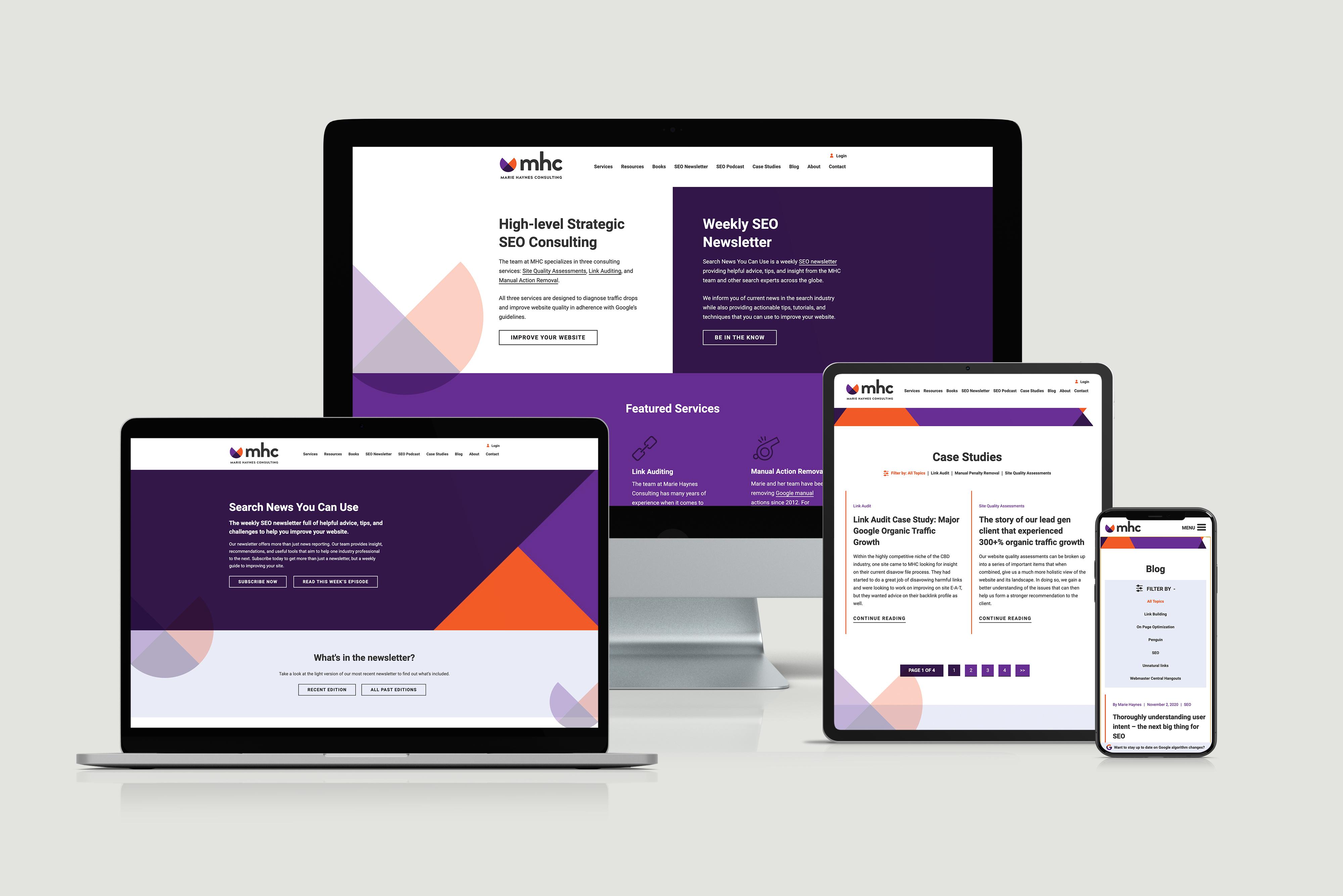 Marie Haynes Consulting Website Redesign