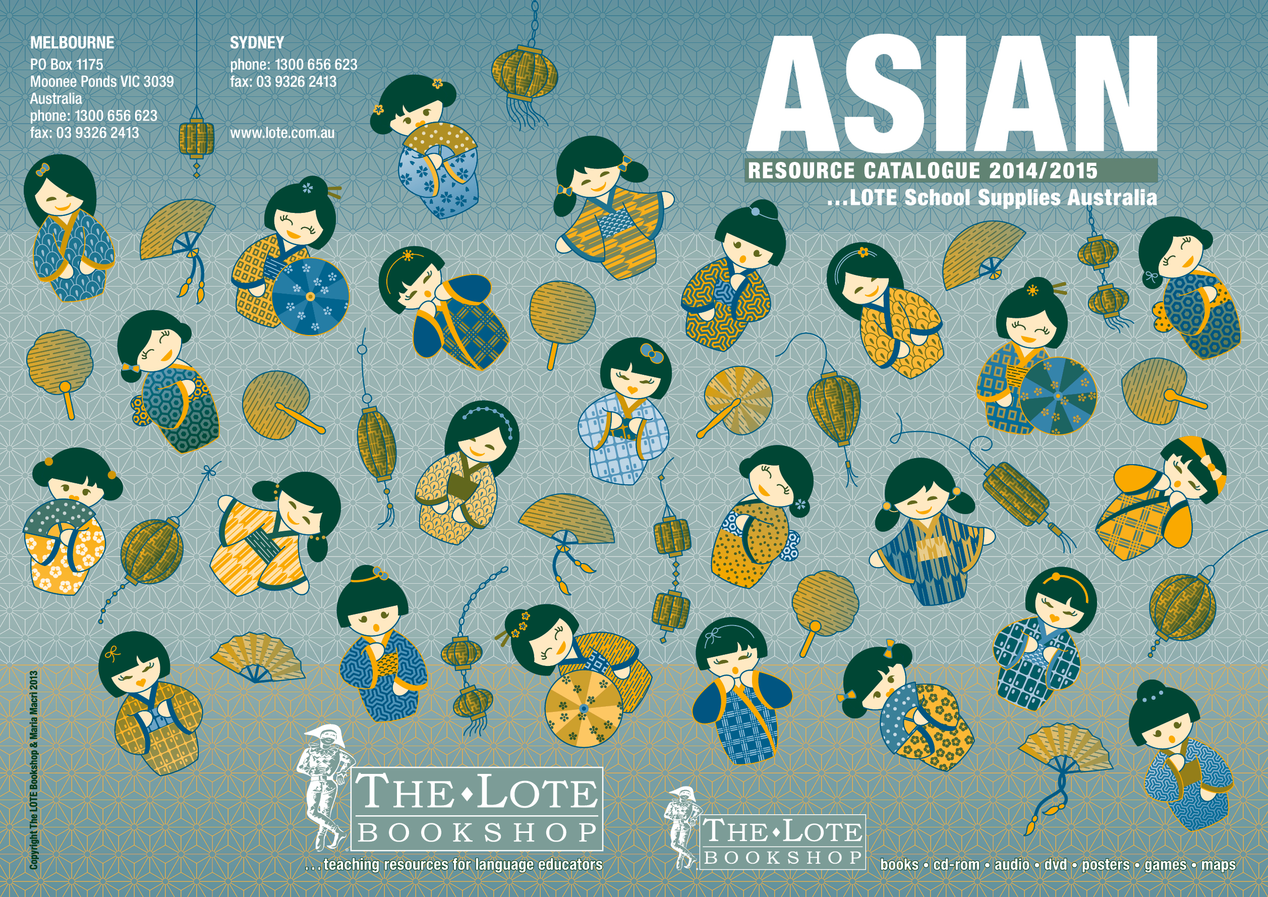 LOTE Asian 2014/15 catalogue cover design