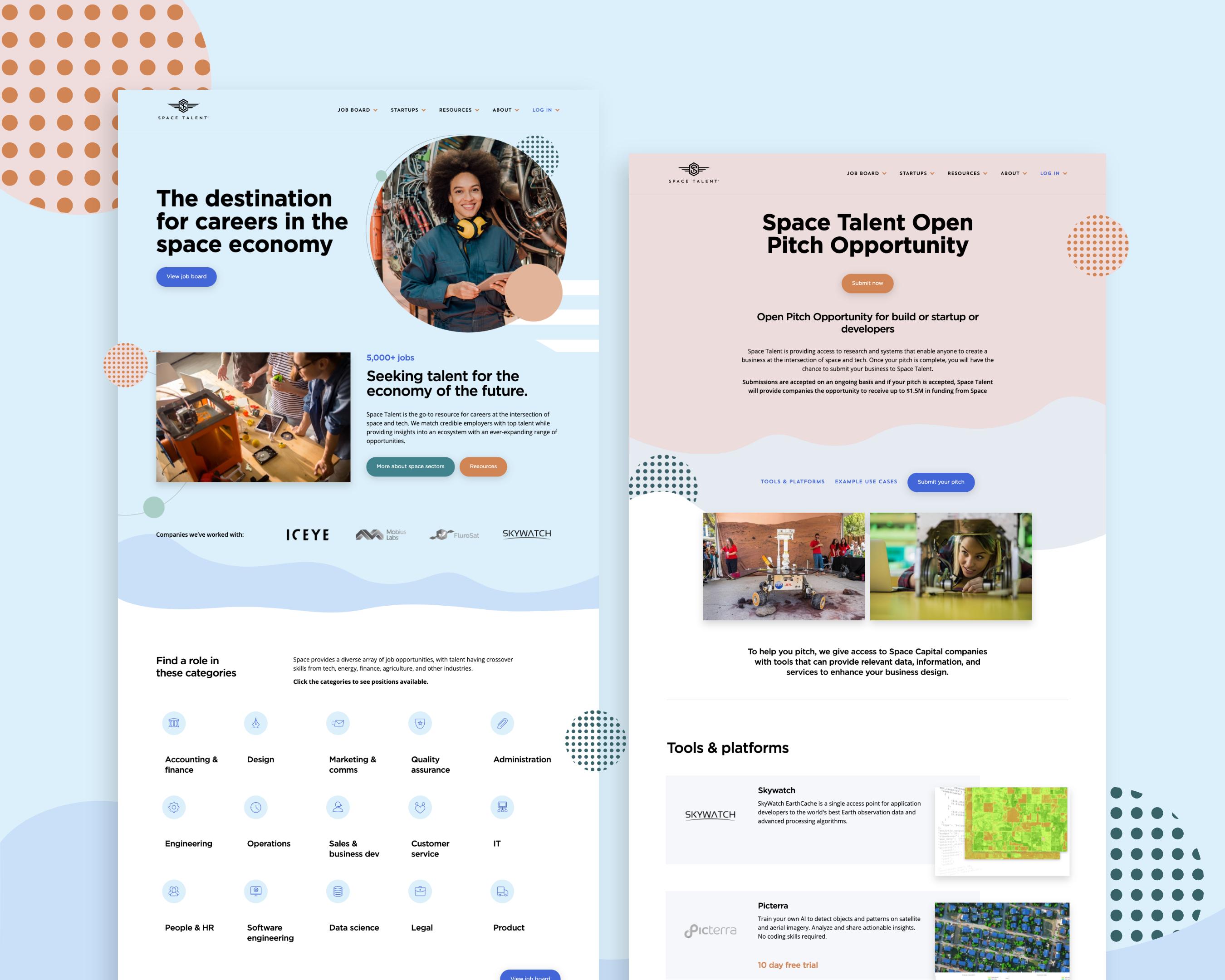 Space Talent Website