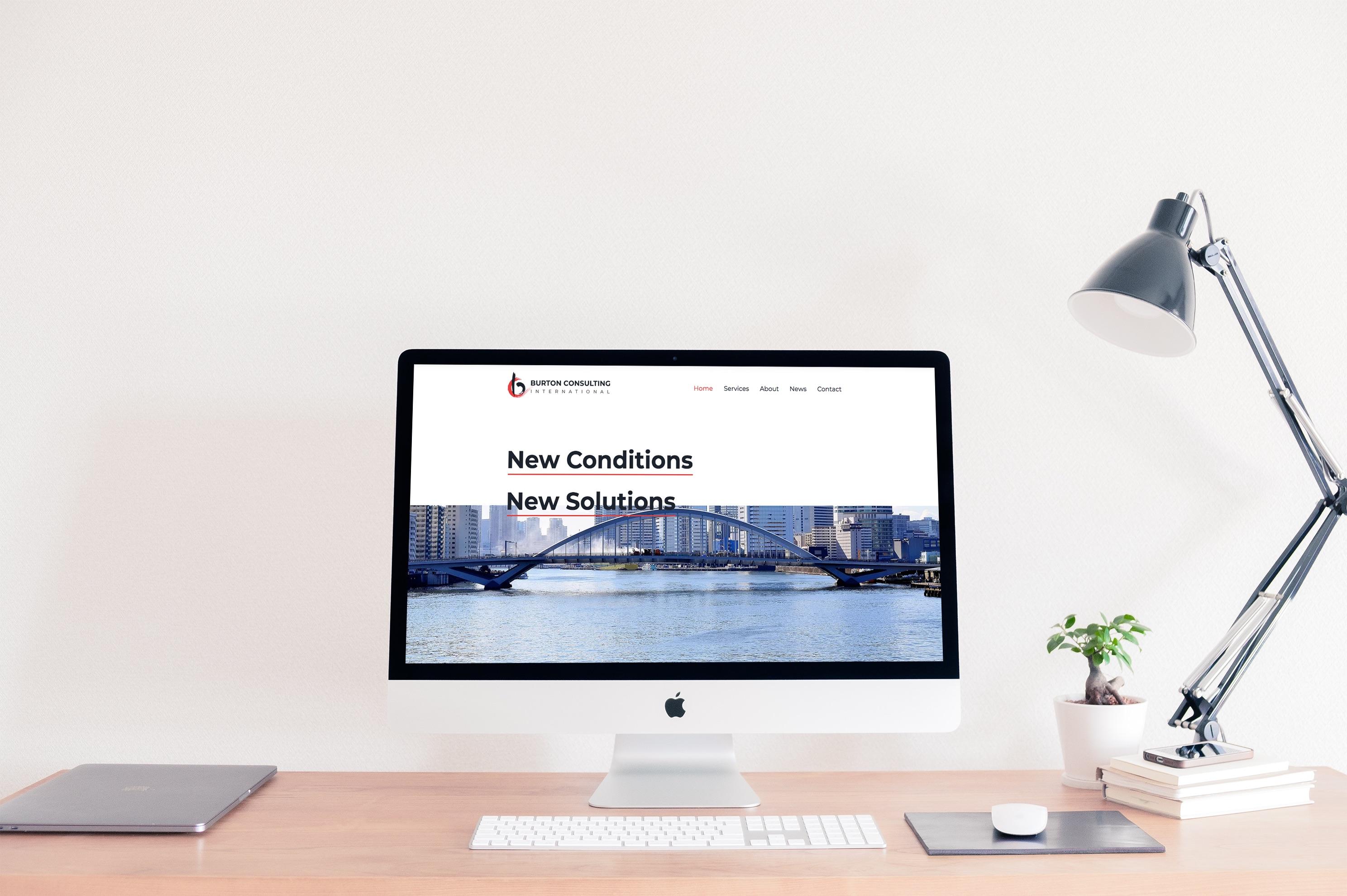 Burton Consulting International Logo and Website Redesign