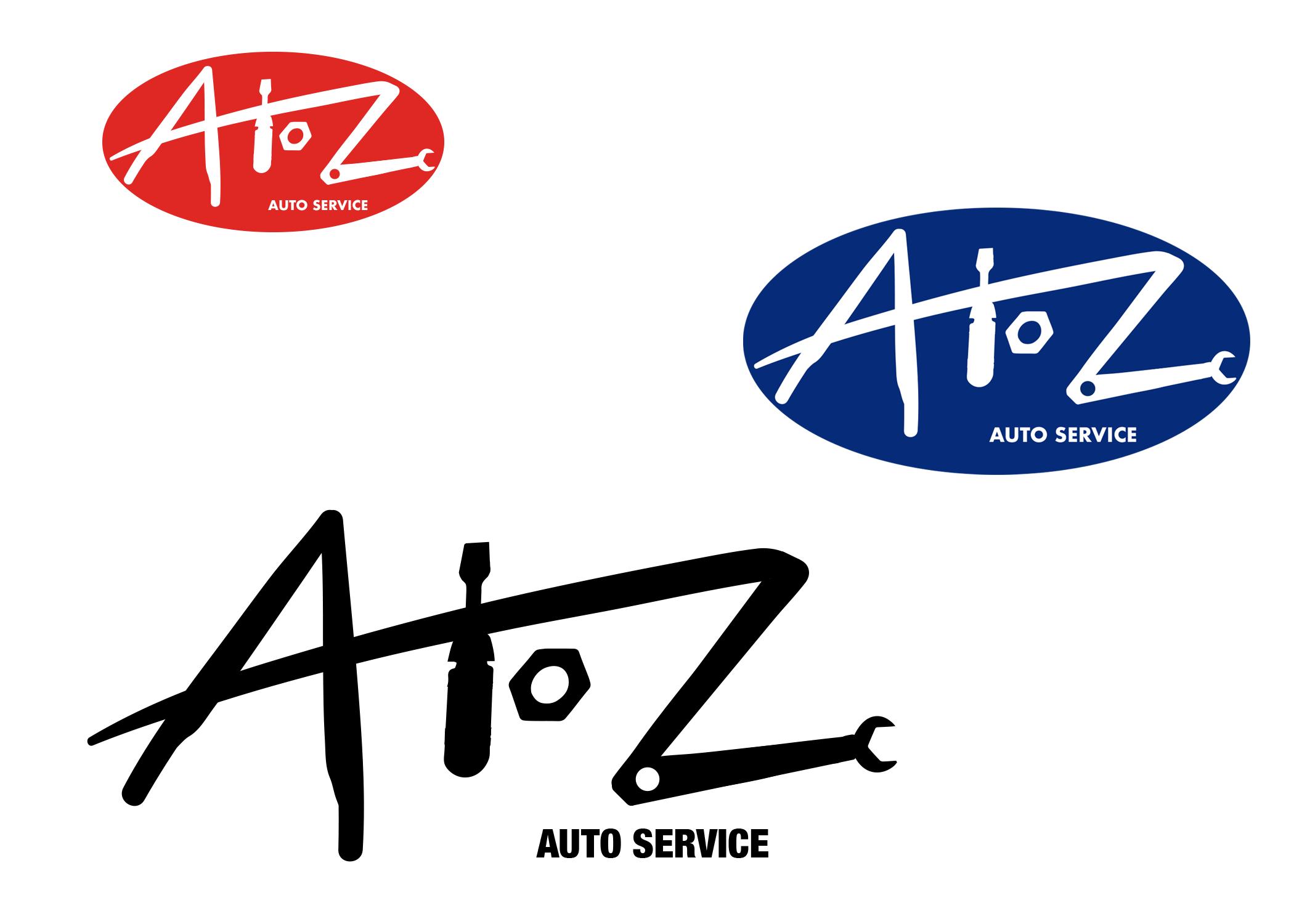 A to Z Auto Service Logo