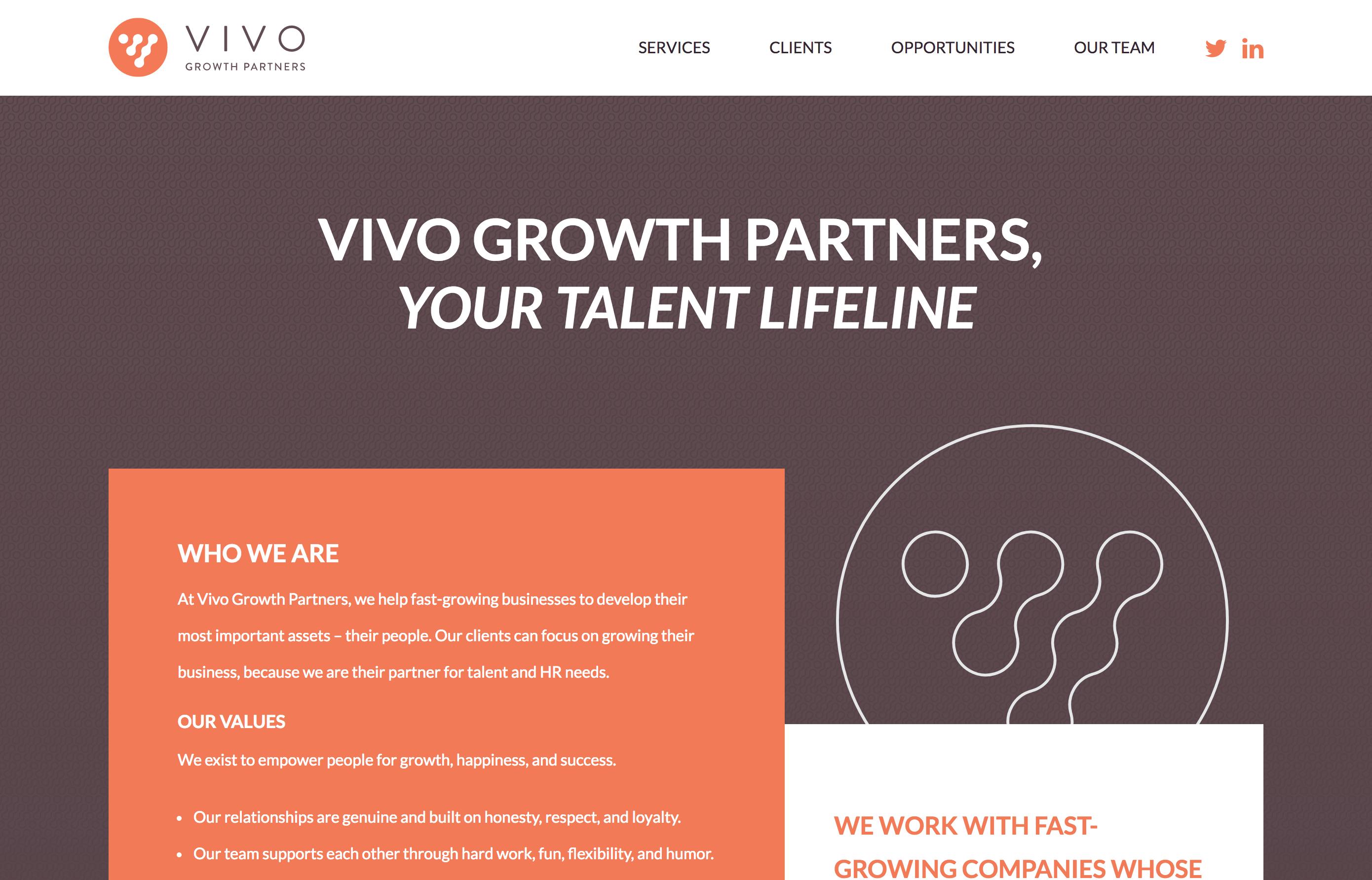 Vivo Growth Website