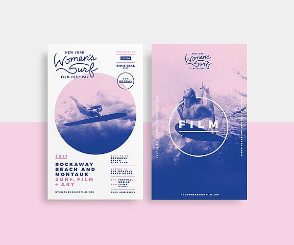 New York Women's Surf Film Festival Brand Identity