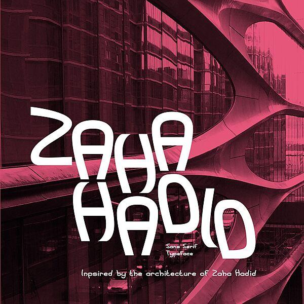 Zaha Hadid Font