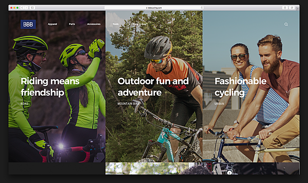BBB Cycling e-commerce brand experience