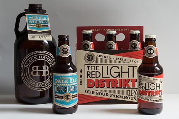 Black Hammer Brewery Packaging Design