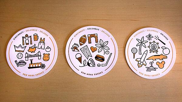 MSA Holiday Coasters