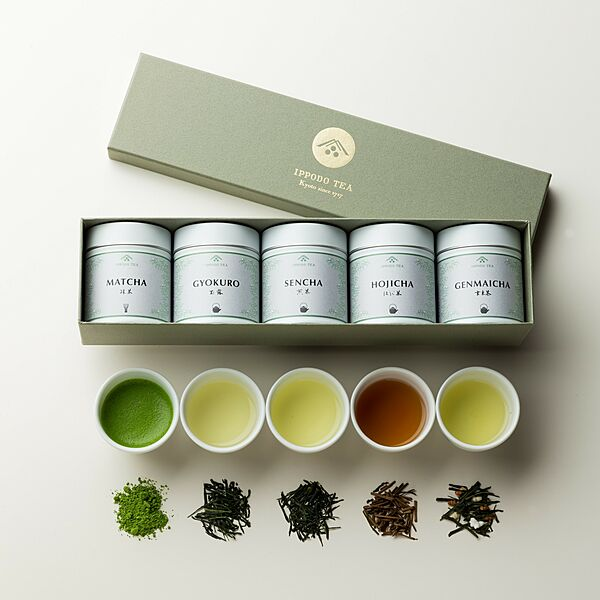"""""""Assortment of Five Japanese teas"""" Global Gift Package"""