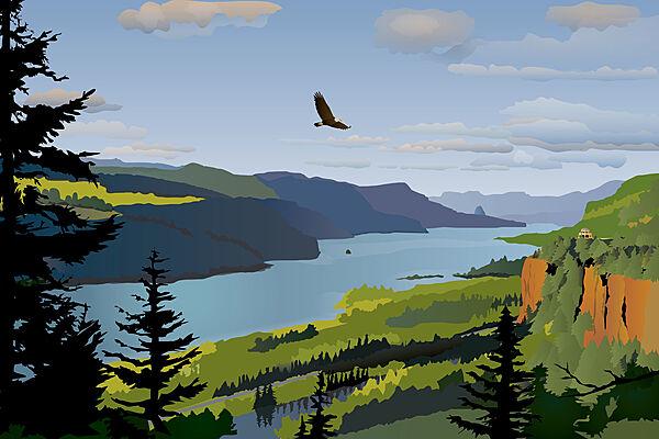Beautiful Scenic Illustrations