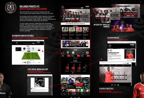 Orlando Pirates FC - Website Redesign