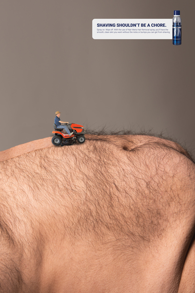 Nair for Men Hair Removal Spray Ad Campaign